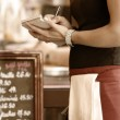 Waitress taking order — Stock Photo