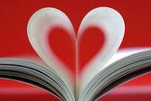 Książki w kształcie serca — Zdjęcie stockowe