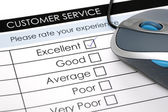 Online customer service satisfaction survey — Stock Photo