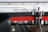 Máquina de escribir - érase una vez — Foto de Stock