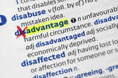 Advantage from disadvantage — Stock Photo