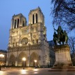 Stock Photo: Notre Dame cathedral at night