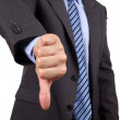 Thumbs down hand gesture — Stock Photo