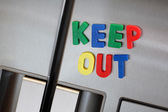 Keep out the refrigerator — Stock Photo
