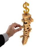 нестабильная доллар — Стоковое фото