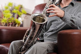 Saxophone rehearsal — Stock Photo