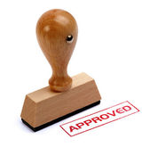 Rubber stamp approved — 图库照片