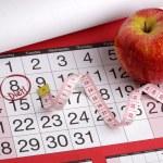 Calendar date to start a diet — Stock Photo #24553453