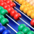 Abacus with coloured beads — Stock Photo