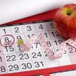 Stock Photo: Calendar date to start diet