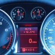 Dashboard of a sports car — Stockfoto