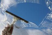 Modré nebe nad hlavou — Stock fotografie