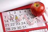 Datum van de kalender om te beginnen met een dieet — Stockfoto