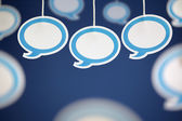 Speech bubbles — Foto Stock