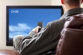 Viendo la tele — Foto de Stock