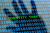 Identity theft online — Stock Photo