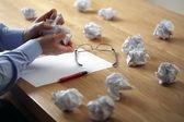Frust, stress und schriftsteller block — Stockfoto