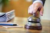 Hotel service bell — Stock Photo