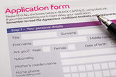 Application form — Foto Stock