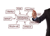 Performance management process diagram — Stock Photo