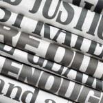 Newspaper headlines — Stock Photo