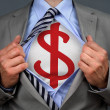 Superhero dollar man — Stock Photo