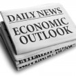 Stock Photo: Economic outlook daily newspaper headline