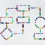 Paper clip organization chart — Stock Photo