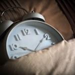 Sleeping alarm clock — Stock Photo
