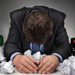 Overworked or writers block — Stock Photo