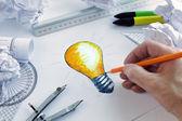 Having a bright idea — Stock Photo