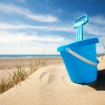Beach bucket and spade — Stock Photo #49279711