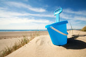 Beach bucket and spade — Stock Photo