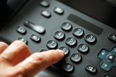 Dialing telephone keypad — Stock Photo
