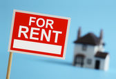 Real estate agent for rent sign — Stock Photo