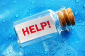 Help message in a bottle — Foto Stock