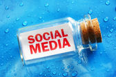 Social media message in a bottle — Foto Stock
