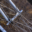 Bicycle Wheel Spokes. — Stock Photo