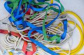 Plachtění lana v barvě. — Stock fotografie