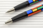 Funky Coloured Pen and Pencil 02 — 图库照片