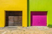 Bo Kaap, Cape Town 016-Garages — Stock Photo