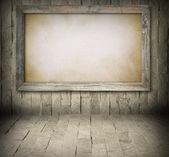 Vecchia scheda sul muro di pietra — Foto Stock