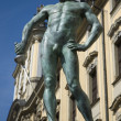 Statue of fencer — Stock Photo