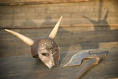Knight medieval armor — Stock Photo