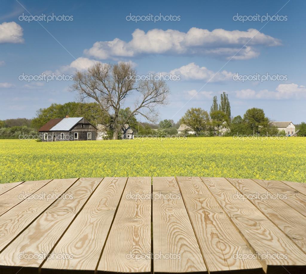 Mesa vac a en el campo fotos de stock mskorpion 33358609 - Mesa de campo ...