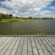 Stock Photo: Empty wooden jetty