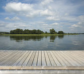 Empty wooden jetty — Stock Photo