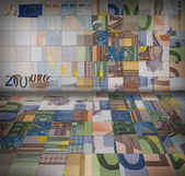 Euro banknotes puzzle — Stock Photo