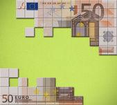 Euro banknote puzzle — Stock Photo