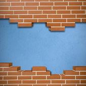 破碎的砖墙背景 — 图库照片